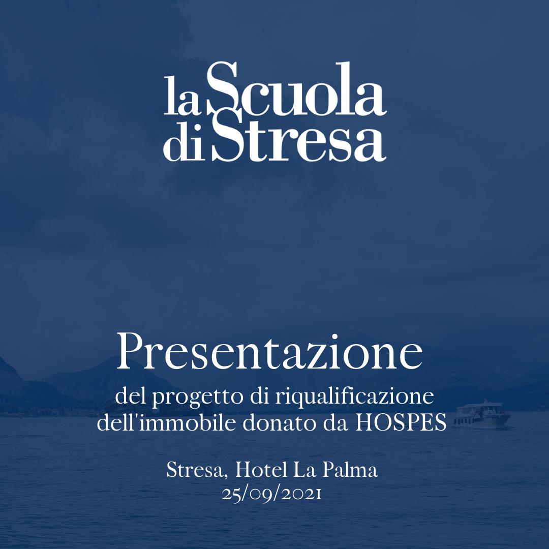 Presentazione progetto di riqualificazione dell'immobile donato da HOSPES